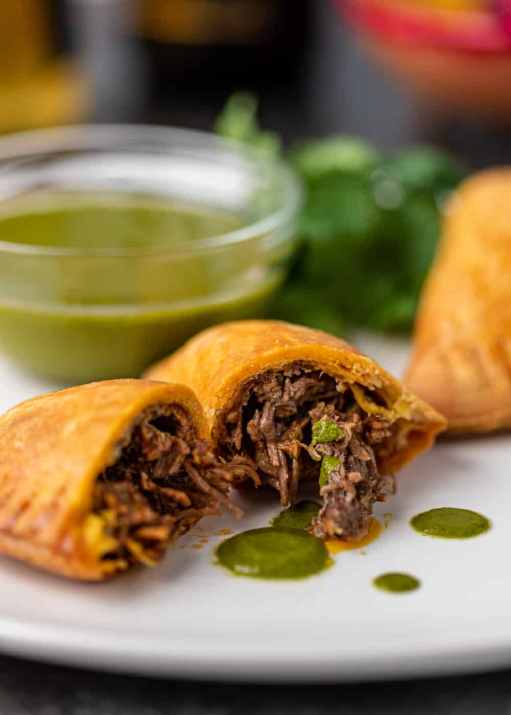 baked mexican appetizers filled with shredded beef