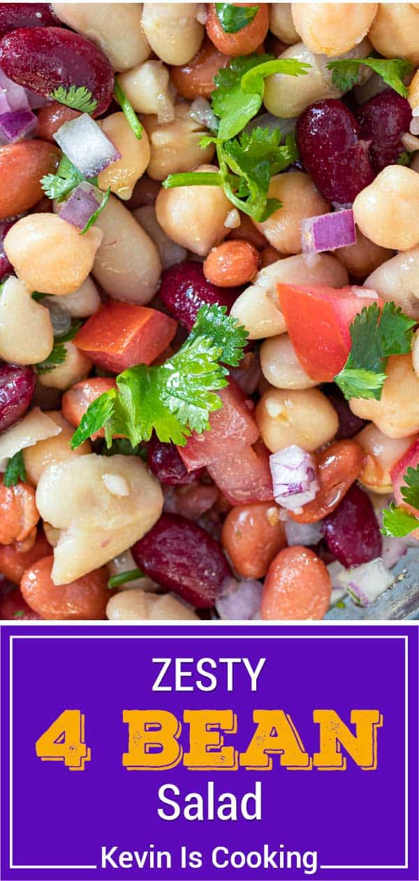 titled image (and shown closeup): Zesty Cold Bean Salad
