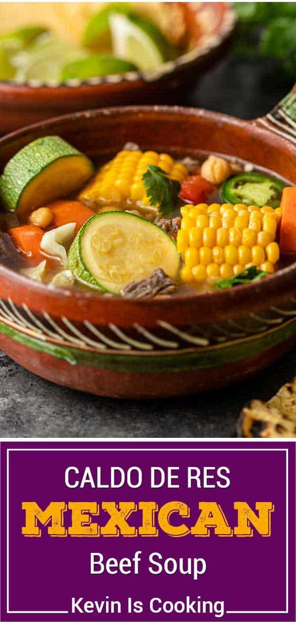 titled image shows bowl of homemade caldo de res (Mexican soup)
