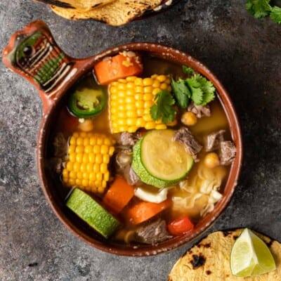 Caldo de Res (Vegetable Beef Soup )