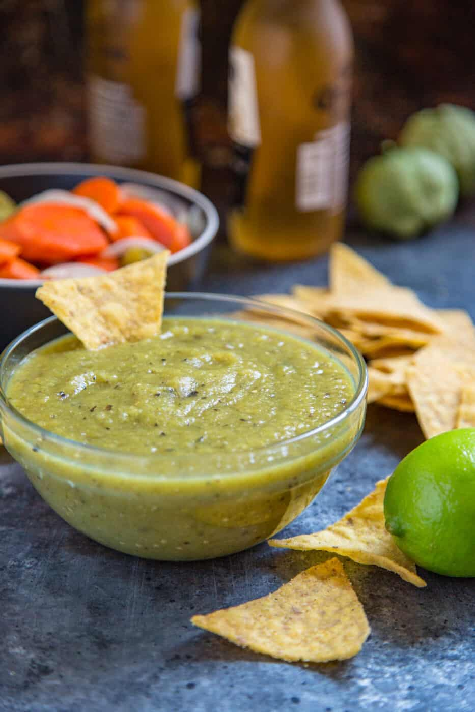 bowl of Mexican green dip