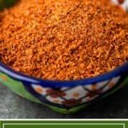 titled image shows tajin seasoning in small spice bowl