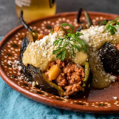 Chicken Stuffed Poblano Peppers
