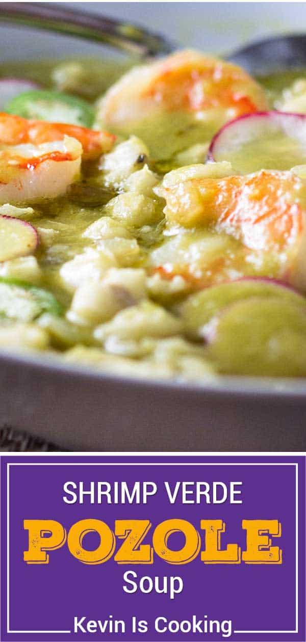 close up of pozole de camaron soup