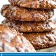 stack of chocolate meringue cookies