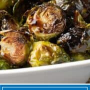 titled image (and shown): roasted brussel sprouts with glaze - kevin is cooking