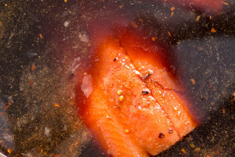 fish in brine for smoked salmon